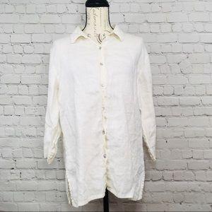 Women Chico Design Button Down Shirt blouse size 2